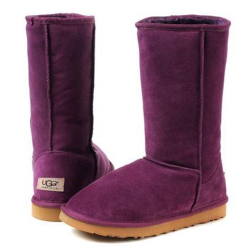 """UGG"" Winter Classic Fashionable Women Warm Wool High Snow Boots Purple I/A"
