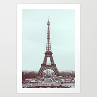 Eiffel Tower Art Print by Pascal+