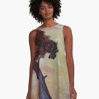 'Loneliness Of Nature' A-Line Dress by DimKad