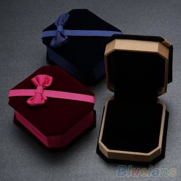 Necklace Ring Earrings Show Case Display Storage Jewelry Gift Box