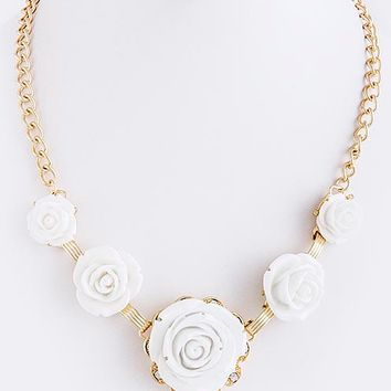 Cream Rose Necklace