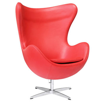 Inner Swivel Chair Leather, Red