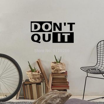 Don't Quit Workout Motivational Fitness Gym Life Quote Vinyl Wall Decor Sticker
