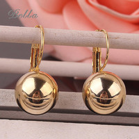 New 1Pair Small Imitate Spherical Ball Dangle Fashion Earrings 18k Gold plated Long Earring Drop Shipping(E0275)