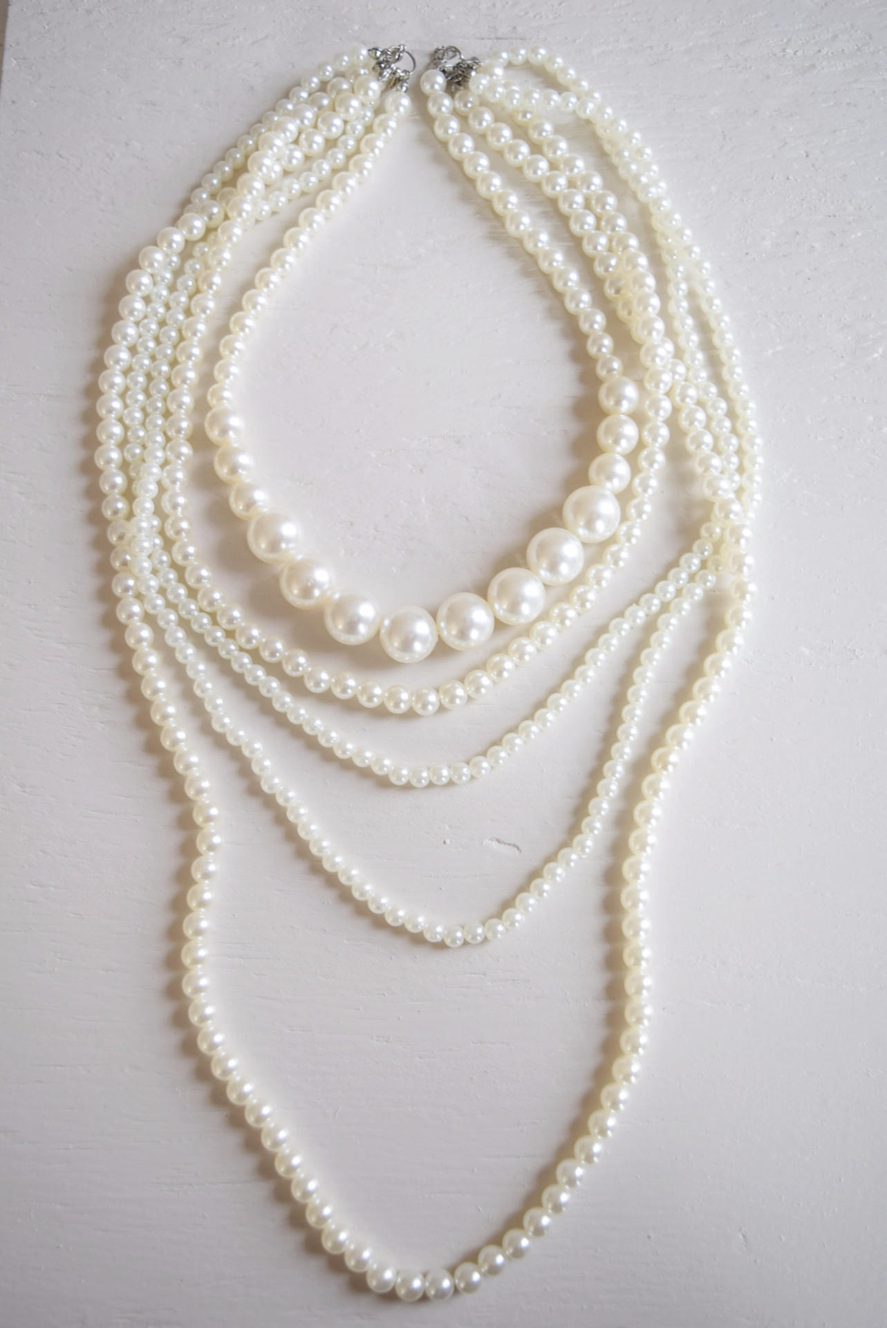 long layered pearl necklace from modampsoul things i want as