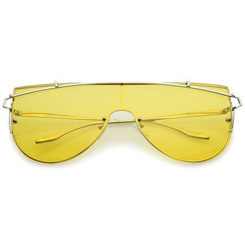 762e502ed1 futuristic cyclops neon shield color mirror lens wrap sunglasses funny  shades best service 0d232 7a40b