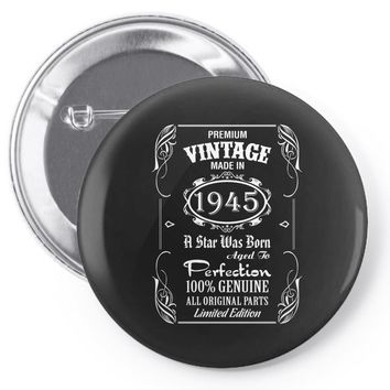 Premium Vintage Made In 1945 Pin-back button