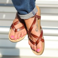 Blowfish Granola Sandals in Whiskey