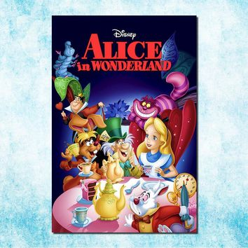 Alice in Wonderland Movie Art Silk Canvas Poster Print 13x20 24x36 Cheshire Cat Wall Pictures For Living Room Decor (more)-5