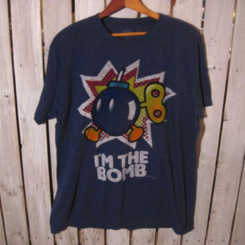 I'm the Bomb T-Shirt, Size Large, Super Mario, Mario Brothers. Retro T-Shirt