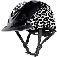 TROXEL SNOW LEOPARD ♦ DESIGNER EQUESTRIAN HELMET by FALLON TAYLOR ♦ SEI / ASTM CERTIFIED ♦ All Sizes