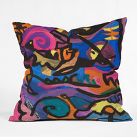 Fresh Artists Wild Ride Throw Pillow