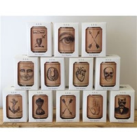Pictorial Votive Wood Candles
