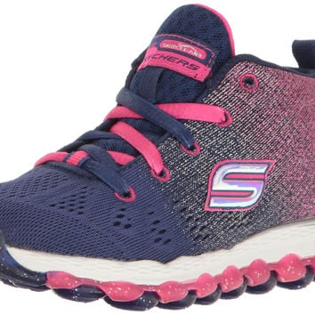 Skechers Kids Skech Air Athletic Sneaker (Little Kid/Big Kid) Navy/Hot Pink Big Kid (8-12 Years) 3.5 M US Big Kid '