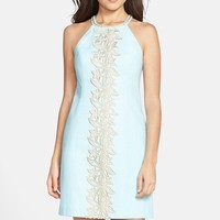 Women's Lilly Pulitzer 'Pearl' Embroidered Cotton Shift Dress,
