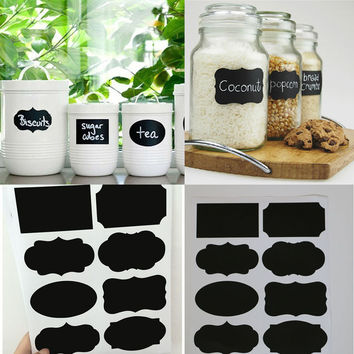 40PCS New Wedding Home Kitchen Jars Blackboard Stickers Chalkboard Lables Free Shipping