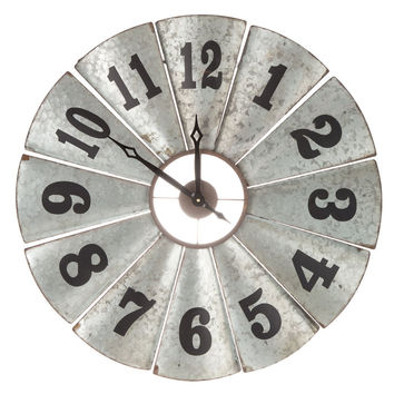 Galvanized Metal Windmill Clock | Hobby Lobby