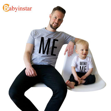 New Arrival Family Look Summer ME and MINI ME Pattern Family t shirt Father and Son Clothes TopTee 2017 Family Matching Outfits