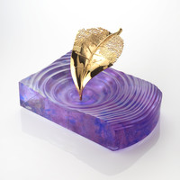 Amethyst Fallen Leaf Centre Piece & Ashtray