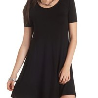 Jersey Knit T-Shirt Dress by Charlotte Russe - Black