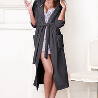 Plush Fleece Long Robe