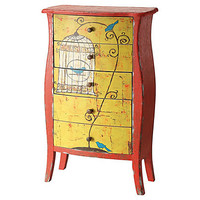 One Kings Lane - Decor & More - 5-Drawer Chest w/ Birdcage