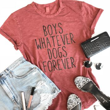 BOYS WHATEVER DOGS FOREVER TEE