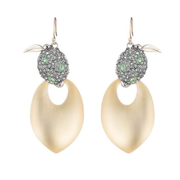 Crystal Encrusted Lime Drop Earring | Alexis Bittar