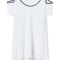 T - SHIRT WITH CUT - OUTS ON SHOULDERS - T - shirts - Woman - New collection | ZARA United States