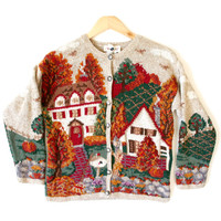 Houses & Harvest Tacky Thanksgiving Ugly Sweater - The Ugly Sweater Shop