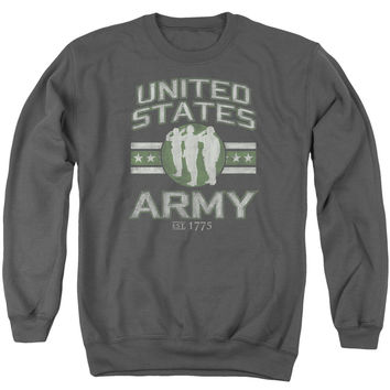 ARMY/UNITED STATES ARMY - ADULT CREWNECK SWEATSHIRT - CHARCOAL -