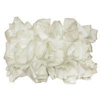 Off White Ruffled Pillow