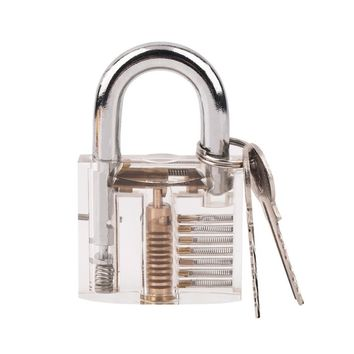 Transparent Pick Cutaway Visable Inside View Padlock Lock For Locksmith Tools Practice Training Skill Set Hot Sale