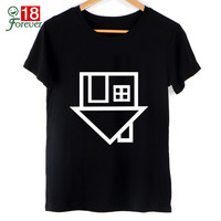 Black Top New 2017 Summer Tops Women Clothing Fashion T Shirt The Neighbourhood Letter print T-Shirt female Short Sleeve Tshirts