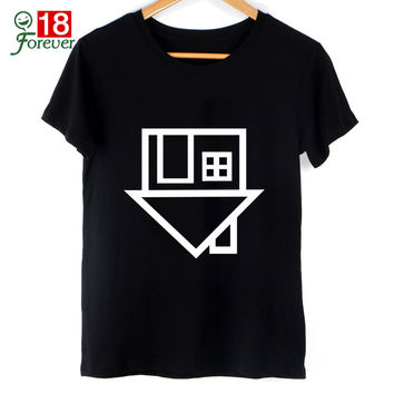 Black Top New 2016 Summer Women Fashion T Shirt The Neighbourhood Letter print T-Shirt Short Sleeve Tshirts Street Clothing Tops