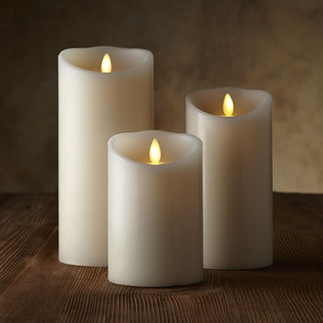 "Classic Pillars - White Unscented - 4"", 6"", or 8"""
