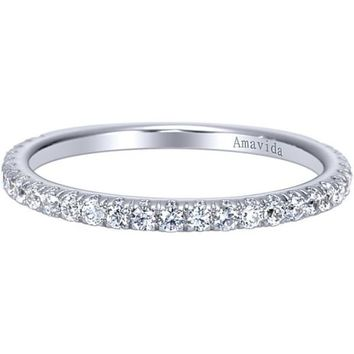 "Gabriel ""Alexandra"" Straight Diamond Wedding Band"