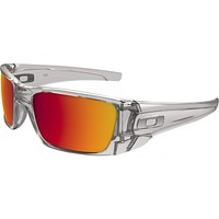 Oakley Mens Fuel Cell Sunglasses, Polished Clear/Torch Iridium, One Size