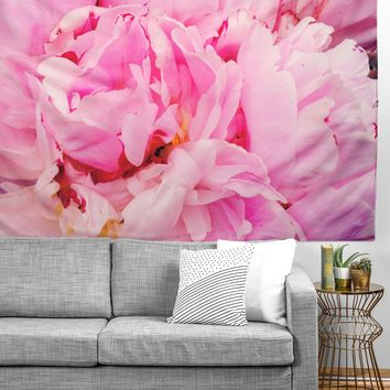 Happee Monkee Pretty Pink Peony Tapestry