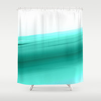 Mint Ombre Shower Curtain by SimpleChic