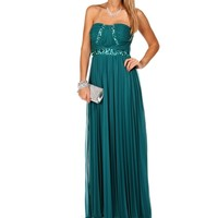 Esther- Seagreen Long Homecoming Dress