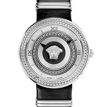 Versace Ladies V-Icon Silver-Tone Watch