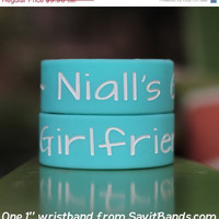 SALE PRICE TODAY - Niall's Girlfriend One Direction Wristband 1 Inch Bracelet