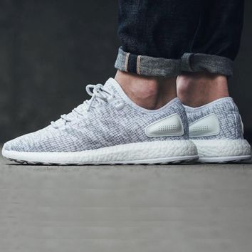 Adidas Pure Boost 2.0 White/Clear Grey (Tmall Original)