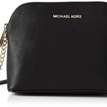 Michael Kors Women's Large Cindy Dome Crossbody Leather Cross Body Bag Tote
