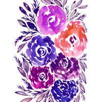 """hand painted flowers_2K"" - Painting Art Print by aticnomar."