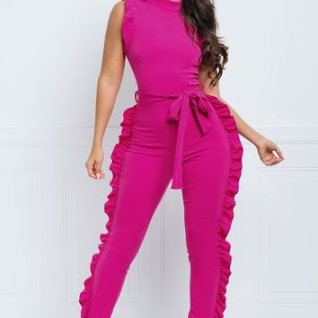 Forever Jumpsuit- Hot Pink