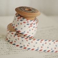 2 Yards Cotton Fabric Cloth -DIY Cloth Art Manual Cloth -Ribbon Labels -Sea Anchor