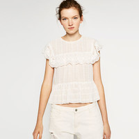 FRILLED CUT-WORK TOP
