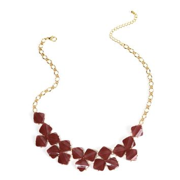 Burgundy Stone Bib Set